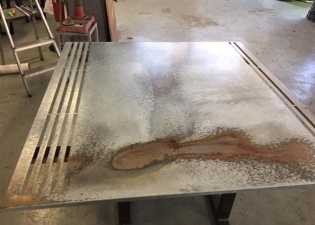 Vibel Design - Ristorante Filiberti - Lamiera zincata acidata